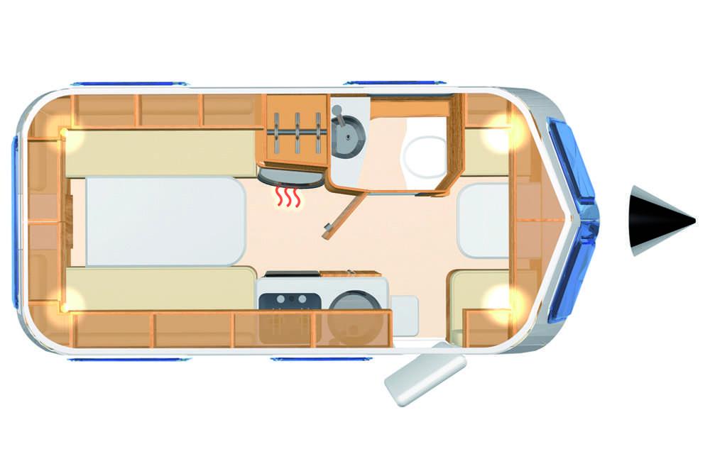 Eriba Familia 540 - Layout